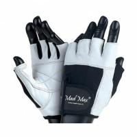 Перчатки Fitness MFG-444 бело-черные